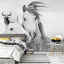 QHWLKJE Vlies Fototapete Tierpferd 250x175cm