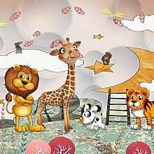 QHZSFF 3D Wandbild Tapete Cartoon-Tiere