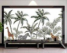 QHZSFF Fototapete Kokospalmen & Tiere Größe:B200