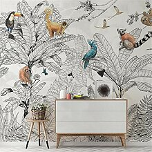 QHZSFF Fototapete Wandbild Bemalte Tiere &