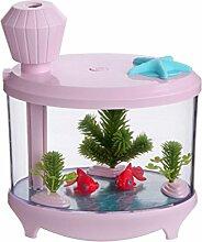 QI Aquarium Beleuchtung Luftbefeuchter Nach Hause Luftreiniger Mini-Usb-Luftbefeuchter Ästhetischer Nachthimmel , Pink,pink