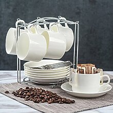 QI&WU Europäisch Keramikbeschichtung Kaffeetasse