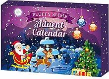 QIAMNI Weihnachts-Adventskalender - Schleim-Kit