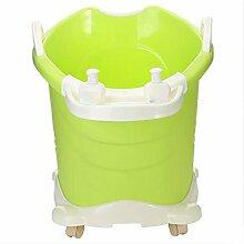 Qian Baby-Badewanne dicke Isolierung kann große Riemenscheibe Badefass nehmen