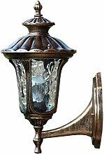 Qian Fei Außenwandleuchte Kreative Metallklarglas