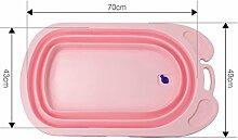 Qian Zusammenklappbar Babybadewanne Verdickung kann sitzen oder liegen Badewanne Neugeborenen Lieferungen