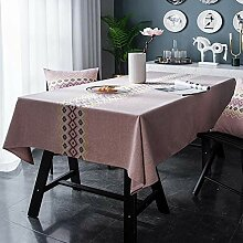 QIANC Rechteckige Tischdecke Abwaschbare Tischtuch