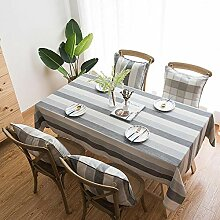 QIANC Tischdecke Baumwolle Leinen Tischwäsche