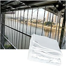 QIANDA Wasserdicht Abdeckplane Transparent,PVC