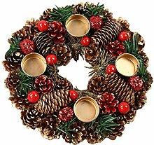 qianele Kerzenständer Adventskranz Weihnachten