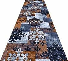 QiangDa Läufer Flur Teppich Polyester Niedriger