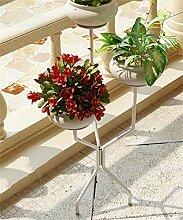 QiangDa Pflanze Regal- Balkon Blumentopf Rack Eisen Blumenhalter Europäische kreative Blumentöpfe Regal Eingelegtes Regal kreatives Blumengestell ( Farbe : Weiß )