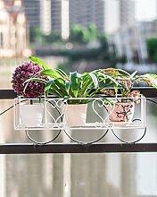 QiangDa Pflanze Regal- Balkon Geländer Blume Haube Hängen Hängen Rahmen Hängen Eisen Topf Blumen Regal Eingelegtes Regal kreatives Blumengestell ( größe : 50 cm )
