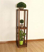 QiangDa Pflanze Regal- Balkon Holz Blumenregal Massivholz Wohnzimmer Mehrschicht-Blumen-Topf Regal Eingelegtes Regal kreatives Blumengestell (größe : 122cm)