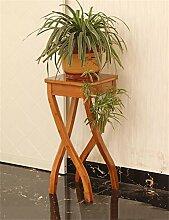 QiangDa Pflanze Regal- Bambus Blumenregal Büro Wohnzimmer Schlafzimmer Blumenstand Europäische kreative Blumentöpfe Regal Eingelegtes Regal kreatives Blumengestell