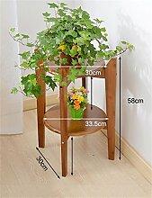 QiangDa Pflanze Regal- Bambus Wohnzimmer Flower Stand Blumen-Rack-European Creative Multi - Layer-Innenblumentopf Shelf Eingelegtes Regal kreatives Blumengestell (größe : 58cm)