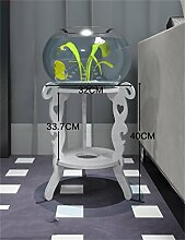 QiangDa Pflanze Regal- Blumen-Topf Regal Europäischen Stil Zwei-Layer-Wohnzimmer Balkon Blumentopf Rack Weiß Eingelegtes Regal kreatives Blumengestell ( größe : C )