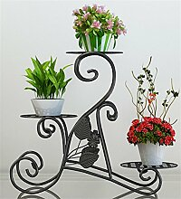 QiangDa Pflanze Regal- Eisen 3 - Tier Blumentopf Regal Montage Europäische Blumenregale Desktop Boden Pflanze Pot Holder Eingelegtes Regal kreatives Blumengestell
