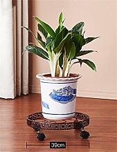 QiangDa Pflanze Regal- Eisen-Blumen-Rack Multi - Storey Balkon Blumentöpfe Regal Europäische - Stil Wohnzimmer Blume Racks Eingelegtes Regal kreatives Blumengestell ( Farbe : Braun , größe : 10cm )
