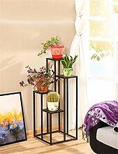QiangDa Pflanze Regal- Europäische Retro minimalistische Indoor Blumentöpfe Regal Leiter Blumenhalter Balkon Wohnzimmer Blumen Töpfe Regal Eingelegtes Regal kreatives Blumengestell ( Farbe : A , größe : 100CM )