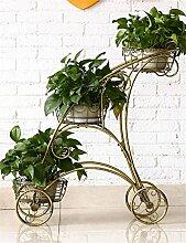 QiangDa Pflanze Regal- Europäische - Stil Eisen Blume Rack Metall Kreative Home Interior Blume Racks Eingelegtes Regal kreatives Blumengestell ( Farbe : Bronze )