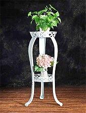 QiangDa Pflanze Regal- Europäische - Stil Eisen Blumenhalter Multi - Storey Wohnzimmer Blumen Töpfe Regal Einfache Modern Flower Töpfe Flugzeuge Eingelegtes Regal kreatives Blumengestell ( Farbe : Weiß )