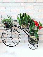 QiangDa Pflanze Regal- Europäische - Stil Eisen Blumenregale Mehrstöckige kreative Balkon Blumentöpfe Regal Eingelegtes Regal kreatives Blumengestell ( Farbe : Schwarz )