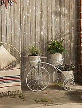 QiangDa Pflanze Regal- Europäische - Stil Eisen Blumenregale Mehrstöckige kreative Balkon Blumentöpfe Regal Eingelegtes Regal kreatives Blumengestell ( Farbe : Weiß )