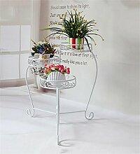 QiangDa Pflanze Regal- Europäische - Stil Eisen Wohnzimmer Blumenhalter Multi - Layer Solid Flower Töpfe Regal Eingelegtes Regal kreatives Blumengestell (Farbe : Weiß)