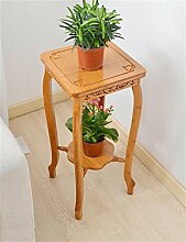 QiangDa Pflanze Regal- Europäische - Stil Kreative Bambus Multi - Storey Blumentopf Regal Wohnzimmer Balkon Blumentopf Halter Flower Pot Rack Eingelegtes Regal kreatives Blumengestell ( größe : M )