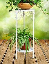 QiangDa Pflanze Regal- European-Stil Iron Flower Pot Rack kreative Balkon Wohnzimmer Mehrschicht-Blumen-Topf Regal Eingelegtes Regal kreatives Blumengestell ( Farbe : Weiß , größe : 70cm )
