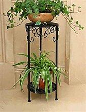 QiangDa Pflanze Regal- European-Stil Iron Flower Pot Rack kreative Balkon Wohnzimmer Mehrschicht-Blumen-Topf Regal Eingelegtes Regal kreatives Blumengestell ( Farbe : Schwarz , größe : 60 )