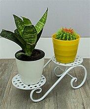 QiangDa Pflanze Regal- Kreativer Schreibtisch-Blumen-Racks Büro-Multifunktionsblumen-Topf-Regal Eingelegtes Regal kreatives Blumengestell (Farbe : Weiß, größe : 30*11.5cm)