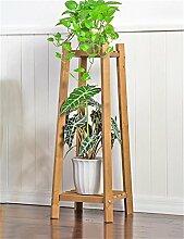 QiangDa Pflanze Regal- Massivholz 2-tier Boden Blumentopf Regal, Pflanzen stehen, Blumenregal für Wohnzimmer, Balkon, Interieur Eingelegtes Regal kreatives Blumengestell ( Farbe : A , größe : L )