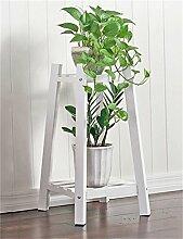 QiangDa Pflanze Regal- Massivholz 2-tier Boden Blumentopf Regal, Pflanzen stehen, Blumenregal für Wohnzimmer, Balkon, Interieur Eingelegtes Regal kreatives Blumengestell (Farbe : B, größe : S)