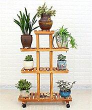 QiangDa Pflanze Regal- Multilayer Holz Blumentöpfe Rack Blume Topfhalter Wohnzimmer Balkon Blumentopf Regal Eingelegtes Regal kreatives Blumengestell ( größe : B )