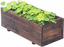 QiangDa Pflanze Regal- Outdoor Anti - Korrosion Holz Blumentöpfe Halter Rectangular Balkon Blumentöpfe Regal Eingelegtes Regal kreatives Blumengestell ( größe : 45*20*16cm )