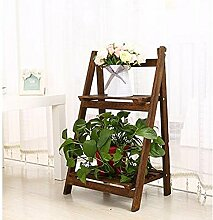 QiangDa Pflanze Regal- Weiß Mehrstöckige Blumenständer Massivholz Wohnzimmer Balkon Eingemachtes kleines Regal Indoor Pflanze Blumenregal (blau, orange, weiß, Farbe) Eingelegtes Regal kreatives Blumengestell ( Farbe : 1002-64cm , größe : 2 layers )