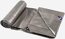 QIANGDA Planen Silber Plane PE-Kunststoff Carport