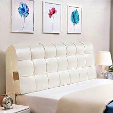 QiangDa Pu Bett Rückenlehne Positionierung Stütz Kissen Bett Kissen abnehmbare weiche Anti-Falten, 5 Farben 6 Größen zur Verfügung ( Farbe : Ivory white , größe : 160*58*10cm )