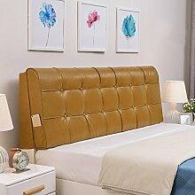 QiangDa Pu Bett Rückenlehne Positionierung Stütz Kissen Bett Kissen abnehmbare weiche Anti-Falten, 5 Farben 6 Größen zur Verfügung ( Farbe : Rich gold , größe : 190*58*10cm )