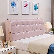 QiangDa Pu Bett Rückenlehne Positionierung Stütz Kissen Bett Kissen abnehmbare weiche Anti-Falten, 5 Farben 6 Größen zur Verfügung ( Farbe : Hell-Pink , größe : 120*58*10cm )