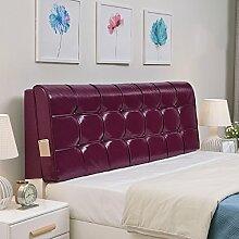 QiangDa Pu Bett Rückenlehne Positionierung Stütz Kissen Bett Kissen abnehmbare weiche Anti-Falten, 5 Farben 6 Größen zur Verfügung ( Farbe : Lila , größe : 200*58*10cm )