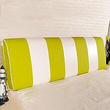 QiangDa Rückenlehne Bett Kissen Vertikale Bar Bett Rückenlehne Positionierung Support Kissen Für Das Spielen Von Telefon Im Bett, 7 Farben 6 Größen Zur Verfügung (Farbe : Grün, größe : 180*58*12cm)