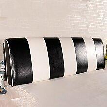 QiangDa Rückenlehne Bett Kissen Vertikale Bar Bett Rückenlehne Positionierung Support Kissen Für Das Spielen Von Telefon Im Bett, 7 Farben 6 Größen Zur Verfügung ( Farbe : Black white , größe : 180*58*12cm )