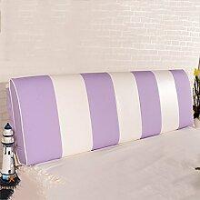QiangDa Rückenlehne Bett Kissen Vertikale Bar Bett Rückenlehne Positionierung Support Kissen Für Das Spielen Von Telefon Im Bett, 7 Farben 6 Größen Zur Verfügung (Farbe : Taro, größe : 180*58*12cm)