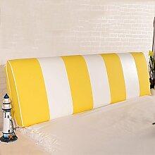 QiangDa Rückenlehne Bett Kissen Vertikale Bar Bett Rückenlehne Positionierung Support Kissen Für Das Spielen Von Telefon Im Bett, 7 Farben 6 Größen Zur Verfügung ( Farbe : Lemon yellow , größe : 150*58*12cm )