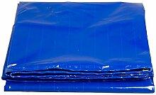 QIANGDA Zeltplanen Markisen Blaue Plane Gewebeplane Industrie Wasserdicht Sonnenschutz Schatten LKW Schutzhülle Hohe Temperaturbeständigkeit Anti-Oxidation, Dicke 0,5 Mm, 430 G / M², 10 Größe Bootsplane Allzweckplane ( Farbe : Blau , größe : 3x4M )