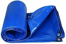 QIANGDA Zeltplanen Markisen Plane Gewebeplane Draussen Wasserdicht Gartenarbeit Sonnenschutz Stoff Winddicht Staubdicht Verschleißfest Anti-Oxidation, Dicke 0,35 Mm, 350 G / M², 11 Größenoptionen Bootsplane Allzweckplane ( Farbe : Blau , größe : 5x5M )