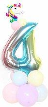 QIangpei Bemerkenswerte 1 Set Einhorn Geburtstags